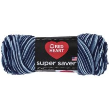 Red Heart Super Saver Yarn, Mulit-Color- Shaded Dusk