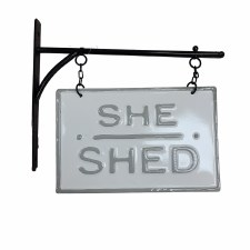 She Shed Sign- Hanging