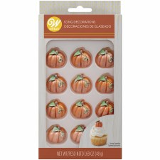 Halloween Icing Decorations- Shimmer Pumpkins