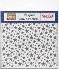 America 6x6 Stencil- Shining Stars