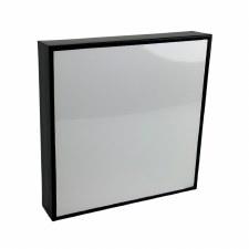 "Shiny Plaque with Black Frame, 8x8"""