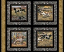 Animals Fabric Panel- Show Dogs Pillow Panel