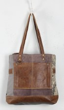 Myra Canvas Tote Bag- Side Floral
