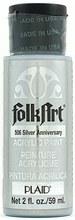 FolkArt 2 Oz. Metallic Acrylic Paint- Silver Anniversary