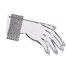 Silver Bead Corsage Bracelet