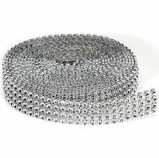 Silver Diamond Ribbon, 3mm x 3 Yards
