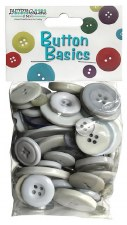 Button Basics- Silver Grey