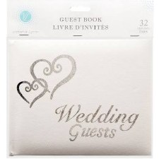Guest Book- Wedding Guests, Silver