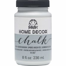 FolkArt Home Decor Chalk Paint 8 oz- Silver Shadow
