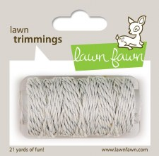 Lawn Fawn Trimmings Cord- Silver Sparkle