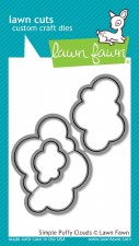 Lawn Fawn Clouds Craft Dies- Simple Puffy Clouds