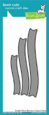 Lawn Fawn Craft Dies- Banners, Simple Wavy