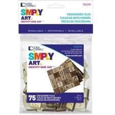 Simply Art Crossword Tiles, 75ct