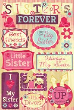 Cardstock Stickers- Sisters Forever