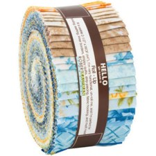 Roll-Up Fabric Strips- Beckford Terrace Sky Colorstory