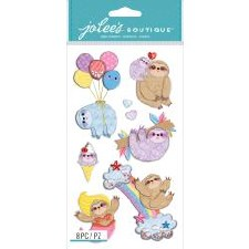 Jolee's Animal Dimensional Stickers- Sloths