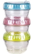 Artbin Twisterz Jar Set- Small & Short, 3pk