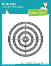 Lawn Fawn Stackable Circles Craft Dies- Stitched Small