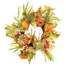 "8"" Wreath w/ Pumpkins"