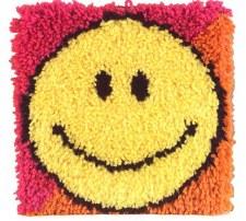 Latch Hook 12x12 Kit- Smiley Face