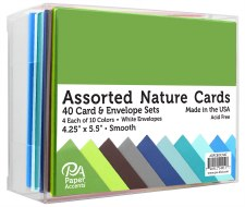 Boxed Card & Envelope Set, 40ct- Smooth Nature