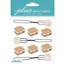 Jolee's Outdoors Dimensional Repeats Stickers- Smores