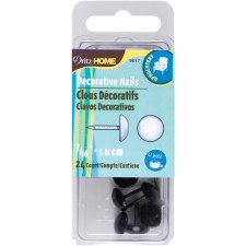 "Dritz Home Upholstery Tacks 7/16""- Black Smooth Head"