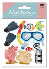 Jolee's Travel Dimensional Stickers- Snorkeling