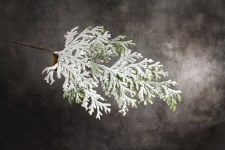 "21"" Cedar Flat Spray- Snow Covered"