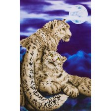 Diamond Facet Art Kit- Snow Leopards