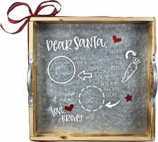 Snow Much Fun Workshop Kit: Personalized Santa Tray