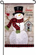 Holiday Garden Flag- Snow Place Like Home