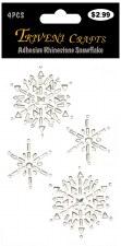 Adhesive Rhinestones- Clear Snowflakes