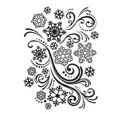 Darice Embossing Folder- Winter- Snowflake Swirls