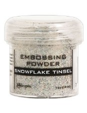 Embossing Powder- Snowflake Tinsel
