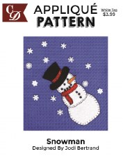 Applique Pattern- Snowman