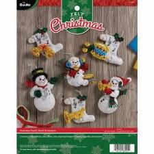 Bucilla Felt Ornament Kit- Snowman Band