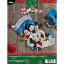 Bucilla Felt Stocking Kit- Snowman Band