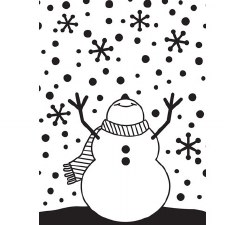Darice Embossing Folder- Winter- Snowman with Snowflakes