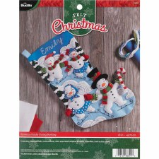Bucilla Felt Stocking Kit- Snowman Outing