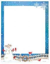 Holiday Letterhead- Rustic Snowman