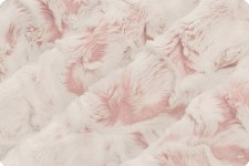 "Snowy Owl Cuddle Fleece, 60""- Rosewater"