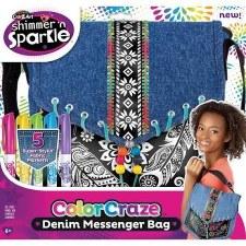 Cra-Z-Art Shimmer & Sparkle Craft Kit- Color Craze Denim Bag