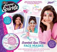 Cra-Z-Art Shimmer & Sparkle- Scented Spa Time Face Masks