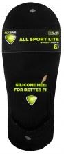 6pk Footie No-Show Socks- All Sport, Black