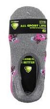 6pk Footie No-Show Socks- All Sport, Mini Floral