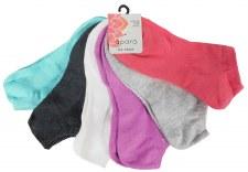 6pk No-Show Socks- Solid Colors
