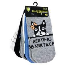 6pk No-Show Socks- Dog's World