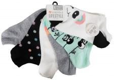6pk No-Show Socks- Pandamonium