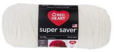 Red Heart Super Saver Yarn- Soft White